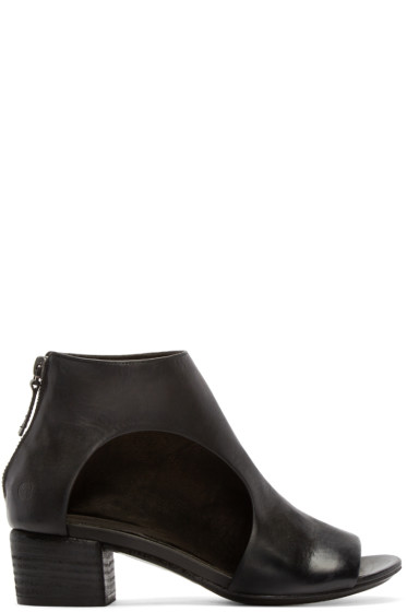 Marsèll - Black Leather Bo Sandalo Ankle Boots