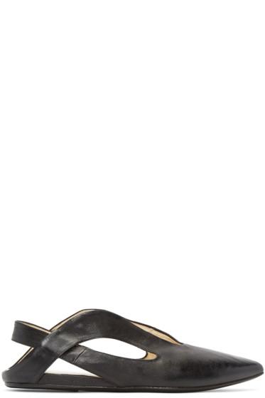 Marsèll - Black Kangaroo Ballerina Flats