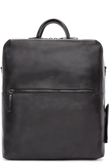 Marsèll - Black Leather Square Scatolaino Backpack