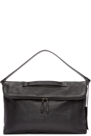 Marsèll - Black Leather Piattona Messenger Bag