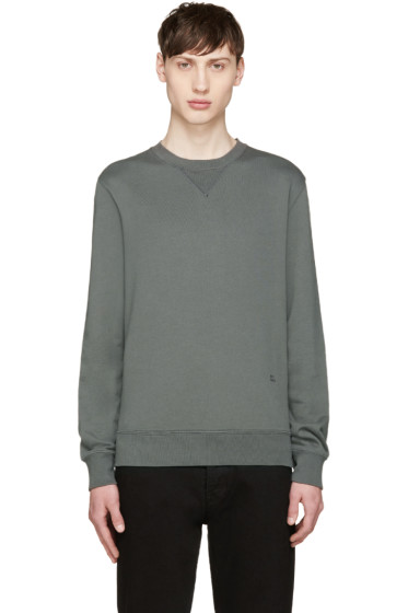 BLK DNM - Green French Terry Pullover