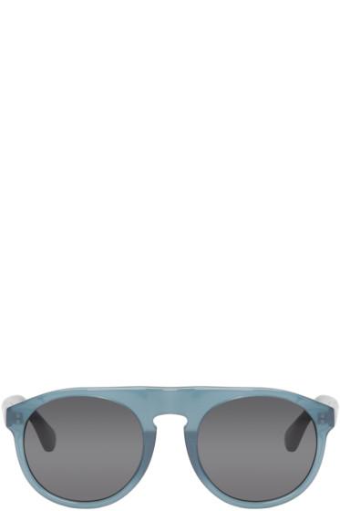 Dries Van Noten - Blue Flat Top Sunglasses