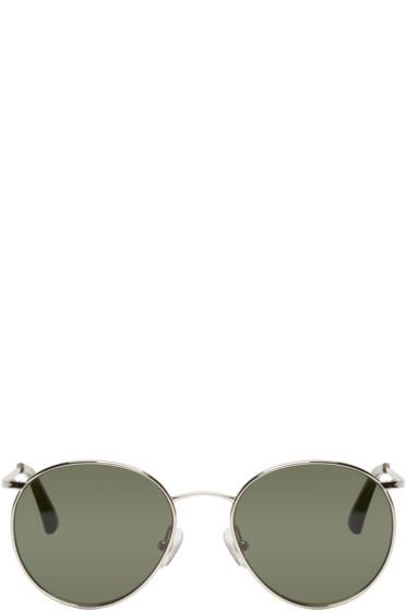 Dries Van Noten - Silver & Green Round Sunglasses
