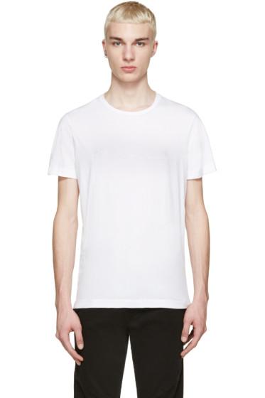 Pierre Balmain - White Embroidered Logo T-Shirt