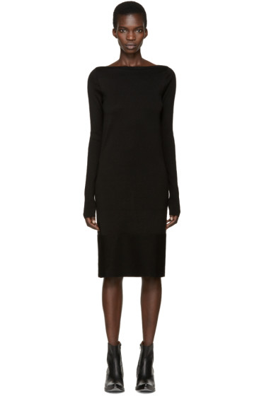 Gareth Pugh - Black Knit Mid Dress