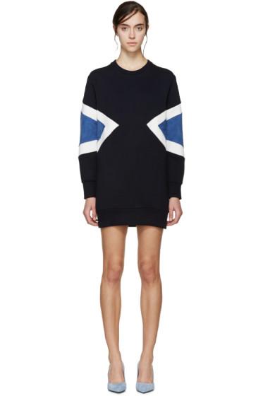 Neil Barrett - Navy Neoprene Modernist Dress
