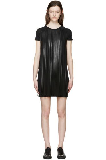 Neil Barrett - Black Fringed T-Shirt Dress
