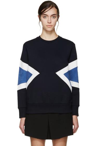 Neil Barrett - Navy Neoprene Modernist Pullover