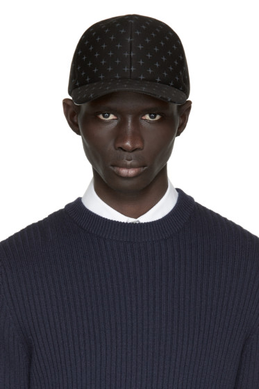 Neil Barrett - Black Neoprene North Star Cap