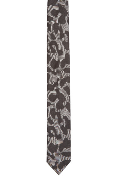 Neil Barrett - Black Leopard Print Tie