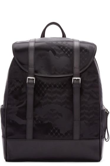 Neil Barrett - Black Camo Print Backpack