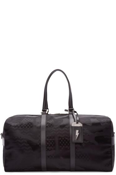 Neil Barrett - Black Camo Print Duffle Bag