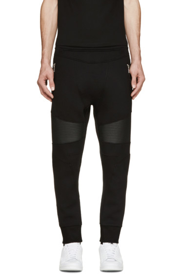 Neil Barrett - Black Neoprene Biker Lounge Pants
