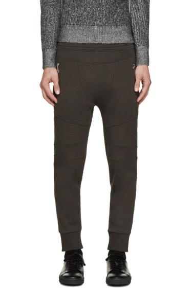 Neil Barrett - Green Neoprene Biker Lounge Pants