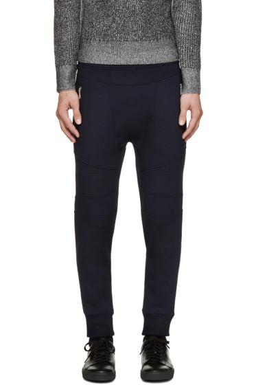 Neil Barrett - Navy Neoprene Biker Lounge Pants