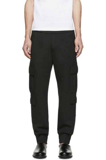Neil Barrett - Grey Neoprene Cargo Lounge Pants