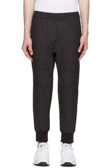 Neil Barrett - Grey Gabardine Biker Trousers