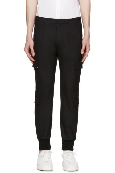 Neil Barrett - Black Gabardine Cargo Trousers