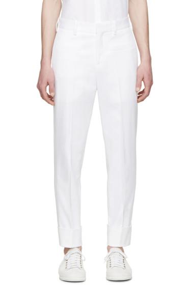 Neil Barrett - White Twill Cuffed Trousers