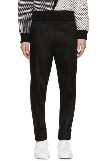Neil Barrett - Black Twill Cuffed Trousers