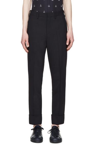 Neil Barrett - Navy Gabardine Trousers