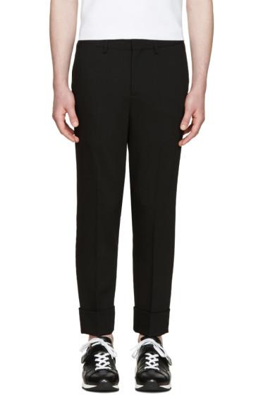 Neil Barrett - Black Cropped Tuxedo Trousers