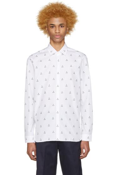 Neil Barrett - White Micro Batik Shirt