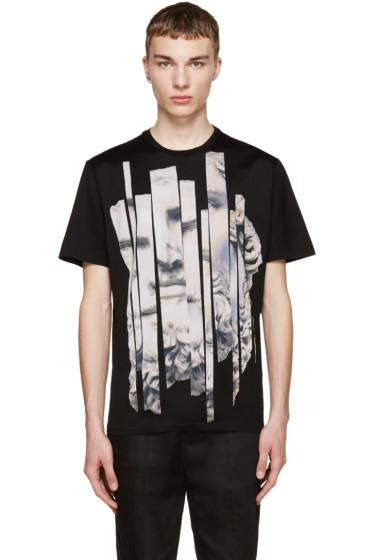 Neil Barrett - Black Sliced Man Statue T-Shirt