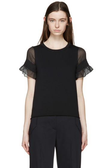 See by Chloé - Black Sheer Sleeve T-Shirt