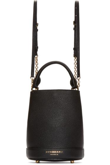 Burberry Prorsum - Black Leather Small Bucket Bag