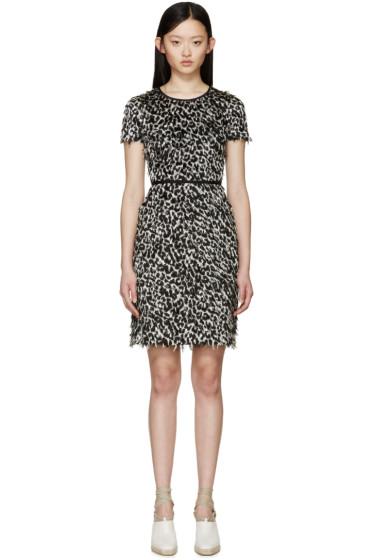 Burberry Prorsum - Black & White Fil Coupé Dress