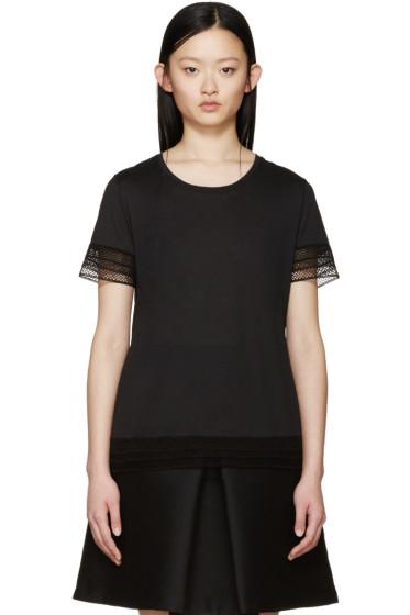 Burberry Prorsum - Black Broderie Anglaise T-Shirt
