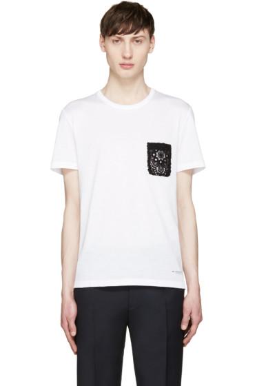 Burberry Prorsum - White Lace Pocket T-Shirt