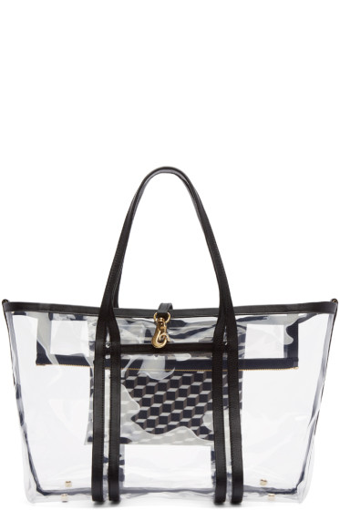 Pierre Hardy - Clear Vinyl Polycube Tote