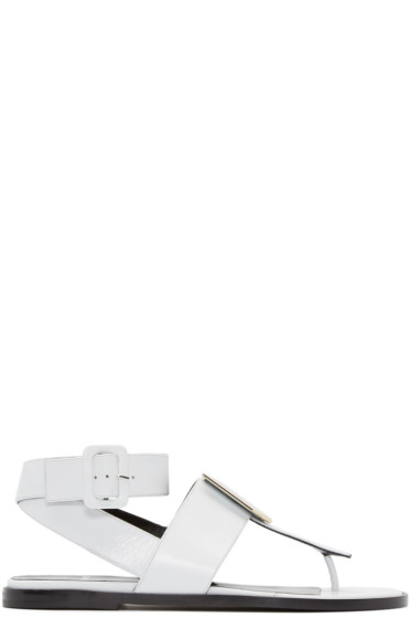 Pierre Hardy - White De D'Or Cube Sandals
