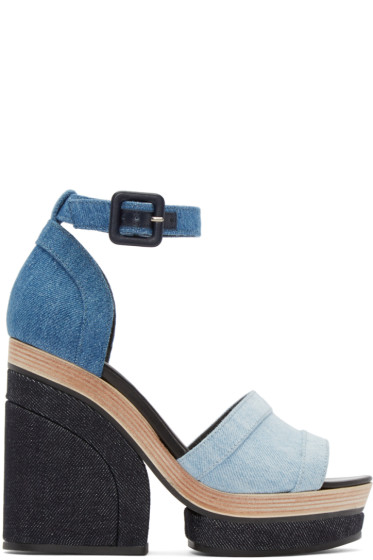 Pierre Hardy - Blue Denim Charlotte Sun Sandals