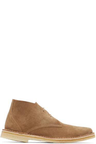 Pierre Hardy - Tan Suede Desert Boots