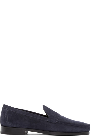 Pierre Hardy - Navy Suede Loafer