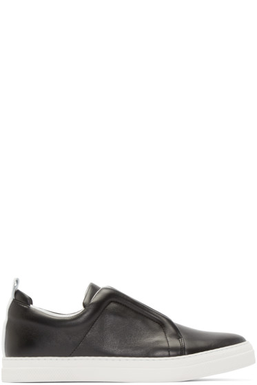 Pierre Hardy - Black Leather Slider Sneakers