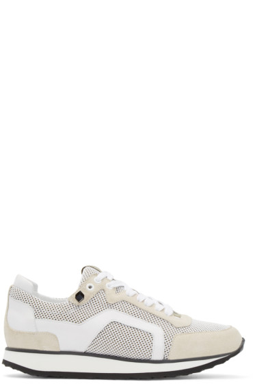 Pierre Hardy - White Mesh Sneakers