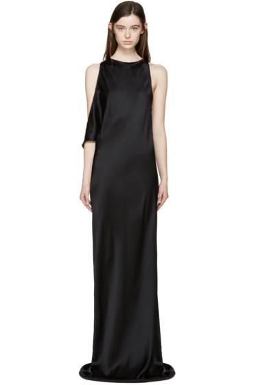 Ann Demeulemeester - Black Silk Rasoseta Dress