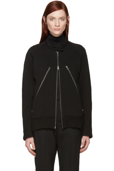 Ann Demeulemeester - Black Maglione Zip-Up Sweater
