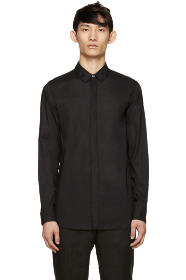 Ann Demeulemeester - Black Poplin Shirt