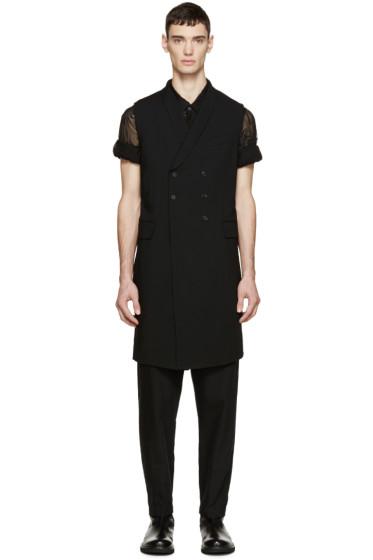 Ann Demeulemeester - Black Long Waistcoat
