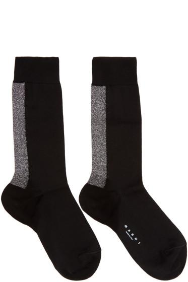 Marni - Black Metalic Stripe Socks