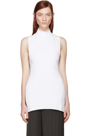 Marni - White Knit Halter Turtleneck