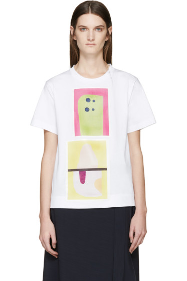 Marni - White Abstract Jack Davidson Edition T-Shirt