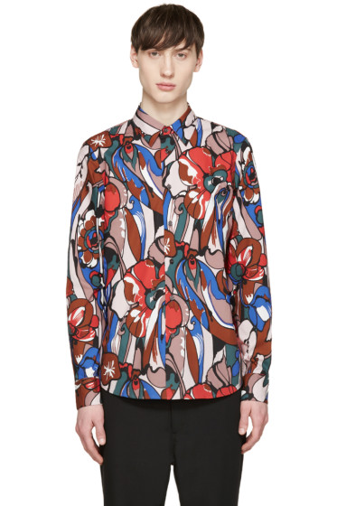 Marni - Multicolor Poplin Printed Shirt