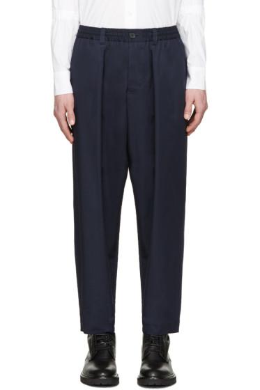 Marni - Navy Oversized Trousers