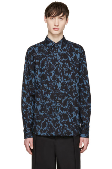 Marni - Blue & Black Printed Shirt